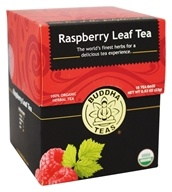 Buddha Teas - 100% Organic Herbal Raspberry Leaf Tea - 18 Tea Bags