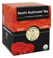 Buddha Teas - 100% Organic Herbal Reishi Mushroom Tea - 18 Tea Bags