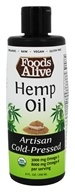 Foods Alive - Organic Hemp Oil - 8 oz.