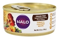 Halo Purely for Pets - Spot's Choice Dog Grain-Free Shredded Turkey and Chickpea - 5.5 oz.