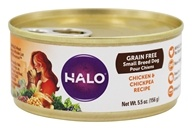 Halo Purely for Pets - Spot's Choice Dog Grain-Free Shredded Chicken and Chickpea - 5.5 oz.