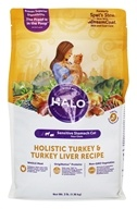 Halo Purely for Pets - Spot's Stew Sensitive Formula for Cats Wholesome Turkey - 3 lb.