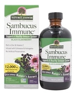 Nature's Answer - Sambucus Immune Black Elderberry Extract Infused with Echinacea & Astragalus 12000 mg. - 8 oz.