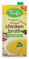 Pacific Foods - Organic Free Range Chicken Broth Low Sodium - 32 fl. oz.