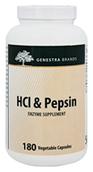 Genestra - HCl & Pepsin Enzyme Supplement - 180 Vegetarian Capsules