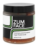 Indigo Wild - Zum Face Rosemary-Mint and Walnut Sugar Facial Scrub - 4 oz.