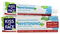 Kiss My Face - Whitening Toothpaste Gel with Anticavity Fluoride Cool Mint - 4.5 oz.
