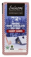 Salazon - 72% Organic Dark Chocolate with Sea Salt & Candy Canes Sea Salt & Candy Canes - 2.75 oz.