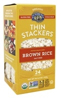 Lundberg - Organic Thin Stackers Brown Rice Salt-Free - 5.9 oz.