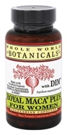 Royal Maca Plus voor vrouwen met DIM - 90 Vegetarian Capsules by Whole World Botanicals
