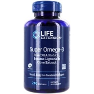 Life Extension - Super Omega-3 EPA/DHA with Sesame Lignans & Olive Extract - 240 Softgels