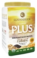 Sun Warrior - Classic Plus Organic Raw Plant-Based Protein Natural - 2.2 lbs.