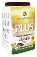 Sunwarrior - Classic Plus Organic Raw Plant-Based Protein Chocolate - 2.2 lbs.