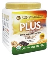 Sun Warrior - Classic Plus Organic Raw Plant-Based Protein Natural - 1.1 lbs.