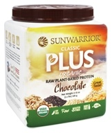 Sunwarrior - Classic Plus Organic Raw Plant-Based Protein Chocolate - 1.1 lbs.