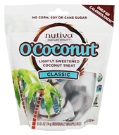 Nutiva - Organic O'Coconut Lightly Sweetened Coconut Treat Classic - 8 Piece(s)