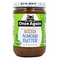 Once Again - Organic Almond Butter Crunchy - 16 oz.