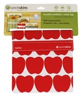 LunchSkins - Reusable Sandwich + Snack Bag Red Apple