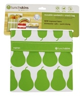 LunchSkins - Reusable Sandwich + Snack Bag Green Pear