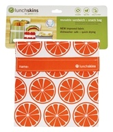 LunchSkins - Reusable Sandwich + Snack Bag Orange Tangerine