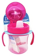 Dr. Brown's - Soft Spout Transition Cup Pink - 6 oz.
