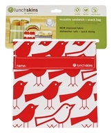 LunchSkins - Reusable Sandwich + Snack Bag Red Bird