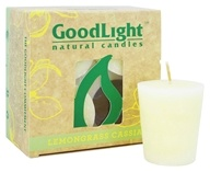 GoodLight Natural Candles - 15-Hour Scented Votives Lemongrass Cassia White - 4 Pack