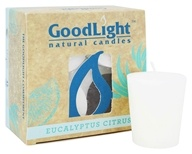 GoodLight Natural Candles - 15-Hour Scented Votives Eucalyptus Citrus White - 4 Pack