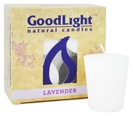 GoodLight Natural Candles - 15-Hour Scented Votives Lavender White - 4 Pack