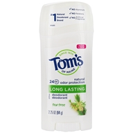 Tom's of Maine - Long Lasting Deodorant Tea Tree - 2.25 oz.