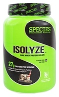 Species Nutrition - Isolyze Pure Whey Protein Isolate Cookies & Cream - 1.55 lb.