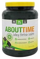 About Time - Whey Protein Isolate Mocha Mint - 2 lbs.