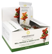 Mediterra - Savory Bar Bell Peppers and Green Olives - 12 Bars