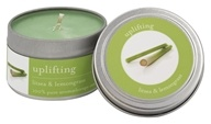 Tru Melange - 100% Pure Aromatherapy Candle Uplifting Litsea and Lemongrass - 3.5 oz.