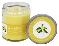 Tru Melange - 100% Pure Aromatherapy Candle Aphrodisia Lemon and Ylang Ylang - 8 oz.