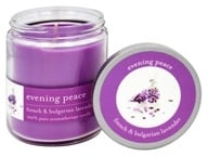 Tru Melange - 100% Pure Aromatherapy Candle Evening Peace French and Bulgarian Lavender - 8 oz.