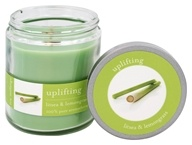 Tru Melange - 100% Pure Aromatherapy Candle Uplifting Litsea and Lemongrass - 8 oz.