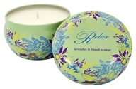 Tru Melange - Sol Relax 100% Pure Aromatherapy Candle Lavender and Blood Orange - 7 oz.