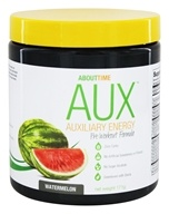 About Time - AUX Auxiliary Energy Pre Workout Formula Watermelon - 171 Grams
