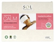 SOL - 100% Organic Cotton Restoring Calm Headache Pillow lavender Scented