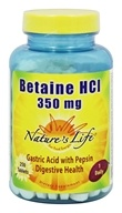 Nature's Life - Betaine HCl 350 mg. - 250 Tablets