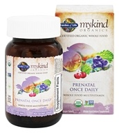 Garden of Life - mykind Organics Prenatal Once Daily Whole Food Multivitamin - 30 Vegetarian Tablets