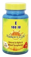 Nature's Life - Vitamin E 100 IU - 100 Softgels