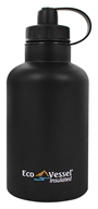 Eco Vessel - TriMax Triple Insulated Stainless Steel Water Bottle Black Shadow - 64 oz.