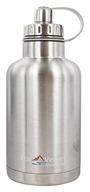 EcoVessel - TriMax Triple Insulated Stainless Steel Water Bottle Silver Express - 64 oz.