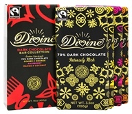Divine - Dark Chocolate Bar Collection Assorted - 4 Bars