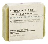 Simply Birgit - Facial Cleanser Bar Detoxifying French Green Clay - 4 oz.