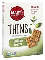 Mary's Gone Crackers - Organic Thins Italian Herb - 4.5 oz.