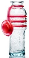 BottlesUp - Glass Water Bottle Red - 16 oz.