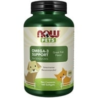 NOW Foods - Omega-3 Support For Dogs/Cats - 180 Softgels